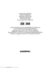 gaggenau eb 388 manuals rh manualslib com gaggenau coffee machine instruction manual gaggenau ovens instruction manual