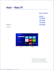Haier 55E4500R User Manual
