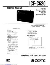 sony dream machine icf c620 manuals rh manualslib com sony dream machine instruction manual sony dream machine user guide