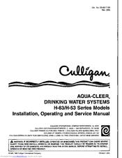 culligan aqua cleer h 83 series manuals rh manualslib com culligan aqua cleer reverse osmosis manual culligan aqua cleer ac30 manual