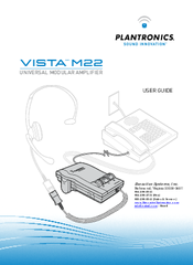 plantronics vista m22 amplifier manuals rh manualslib com Headsets for Plantronics M22 Plantronics Headset with M22 Amplifier