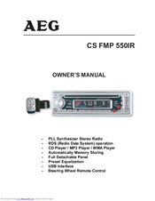 AEG CS FMP 550IR Owner's Manual