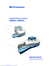Pitney Bowes Dm400c Series Manuals