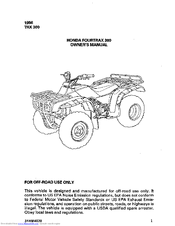 honda fourtrax 300 owner s manual pdf download rh manualslib com honda trx 300 manual pdf 1997 honda trx 300 manual