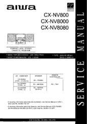 Aiwa CX-NV800 Service Manual