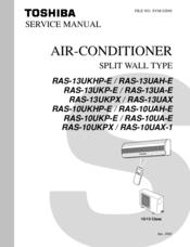 toshiba ras 10uah e manuals rh manualslib com toshiba air conditioner ras-m10skv-e manual Sanyo Air Conditioners