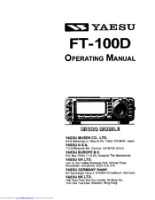 Yaesu FT-100D Operating Manual
