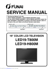 FUNAI LED19-H800M SERVICE MANUAL Pdf Download