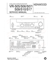 kenwood vr 505 manuals kenwood vr 505 service manual 35 pages audio video surround receiver