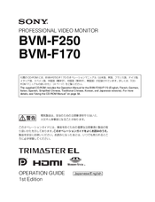 Sony BVM-F250 Operation Manual