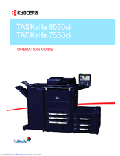 Kyocera TASKalfa 7550ci Manuals