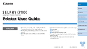 Canon SELPHY CP1000 User Manual