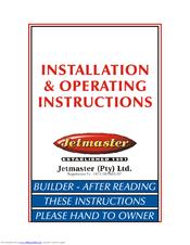 Jetmaster 500 installation & operating instructions manual pdf.