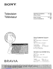 Sony XBR-70X850B Operating Instructions Manual