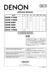 [DIAGRAM_34OR]  DENON AVR-1508 SERVICE MANUAL Pdf Download | ManualsLib | Wiring Diagram P 1508 |  | ManualsLib
