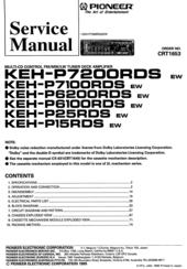 pioneer keh p7100rds manuals rh manualslib com pioneer rds mosfet 50wx4 manual pioneer rds wma/mp3 manual