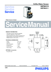 philips senseo hd7863 10 service manual pdf download rh manualslib com senseo user manual pdf senseo coffee machine instruction manual