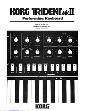 Korg Trident MKII Owner's Manual
