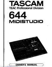 tascam 644 midistudio owner s manual pdf download rh manualslib com Tascam 4-Track Cassette Recorder Wanted Tascam Reel to Reel