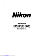 nikon eclipse e600 manuals rh manualslib com nikon eclipse e600 service manual nikon eclipse e600 pol manual
