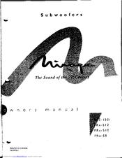 Mirage Frx S8 Manuals