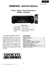 onkyo tx sv343 manuals rh manualslib com Onkyo TX NR808 Onkyo TX- 8050