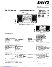 Sanyo DC-F110 Service Manual