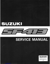 suzuki sf413 manuals rh manualslib com 2002 Suzuki 250 ATV Suzuki Repair Manuals 1988 GN250