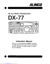 alinco dx 77 manuals rh manualslib com User Guide Template Instruction Manual Example