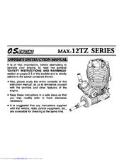 o s engine max 12tz series manuals rh manualslib com os max 32f engine manual os 61fx engine manual