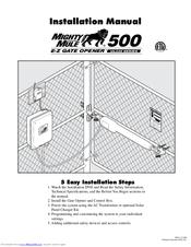 mighty mule 500 ul325 series manuals rh manualslib com Mighty Mule 600 Mighty Mule 500 Battery