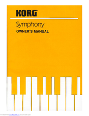 Korg Symphony Owner's Manual