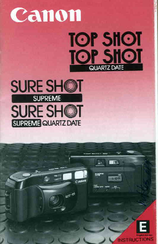 Canon Sure Shot Supreme Quartz Date Instructions Manual