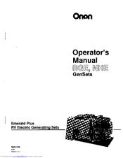 ONAN EMERALD PLUS BGE SERIES OPERATOR'S MANUAL Pdf Download
