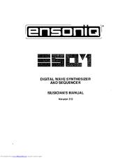ensoniq esq 1 manuals rh manualslib com ensoniq esq-1 service manual Ensoniq MR-61