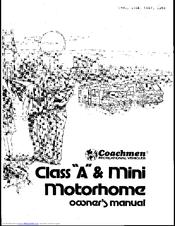 COACHMEN RV 1983 CLASS A OWNER'S MANUAL Pdf Download