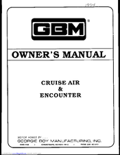 GBM 1994 Cruise Air Owner's Manual