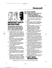 Honeywell hz-680c series Important Safety Information