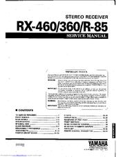 yamaha rx r 85 manuals Yamaha RX 630 yamaha rx-v563 manual download