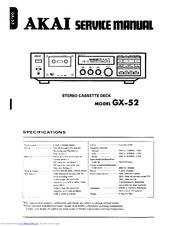 akai gx 52 manuals rh manualslib com User Guide Cover Example User Guide