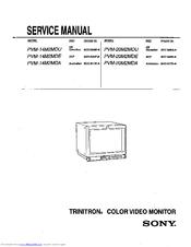 sony trinitron pvm 20m2mdu manuals rh manualslib com sony trinitron service manual sony wega trinitron service manual
