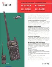 icom ic t42e manuals rh manualslib com  Icom IC Receiver