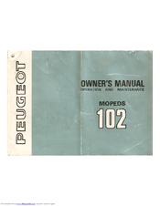 PEUGEOT 102 SPB-U2 OWNER'S MANUAL Pdf Download. on peugeot xr6, peugeot jetforce, peugeot squab, peugeot vivacity,