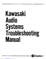 Kawasaki Voyager ZN1300 Troubleshooting Manual