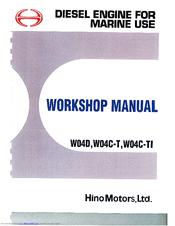 Hino Motors W04D Manuals