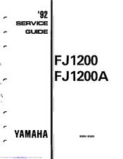 yamaha 1992 fj1200 service manual pdf download rh manualslib com Yamaha FJ1200 Top Speed Yamaha FJR 1200