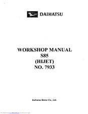 Daihatsu s85 manuals daihatsu s85 workshop manual asfbconference2016 Gallery
