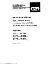 hatz diesel e 571 series repair manual pdf download rh manualslib com hatz diesel engine repair manual Hatz Diesel Germany