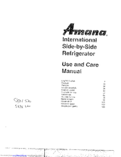 amana sbde520 manuals rh manualslib com Amana Side by Side Unit amana side by side refrigerator ice maker parts