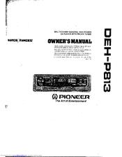 pioneer deh p813 manuals rh manualslib com Pioneer Deh 3400 Pioneer Deh 3400